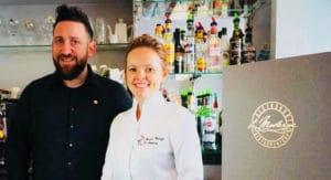 Marion et Ben franze propriétaires du restaurant Le Moderne