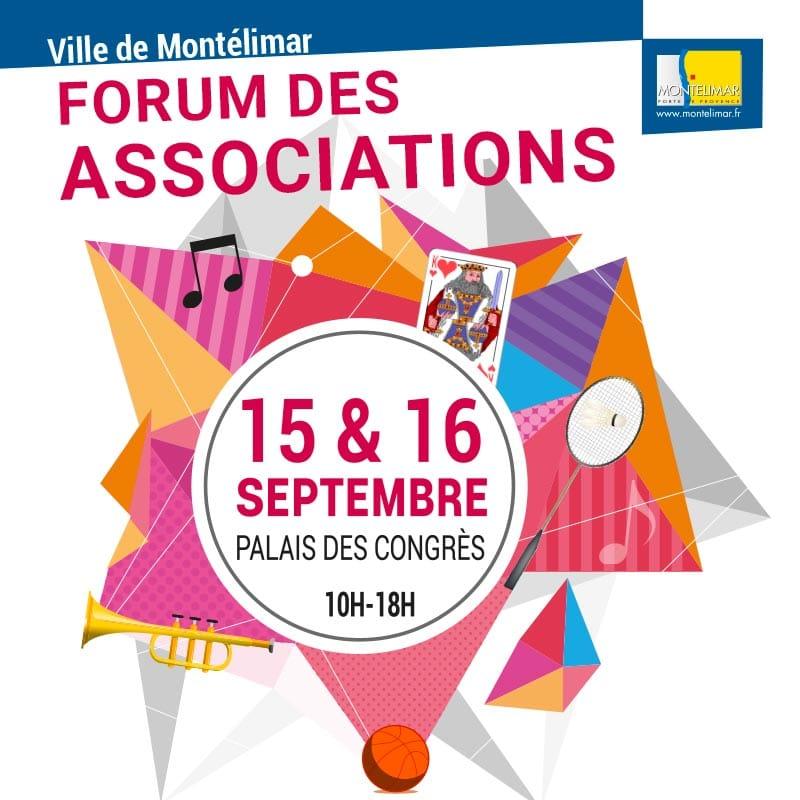 Publicité pour le forum des associations 2018