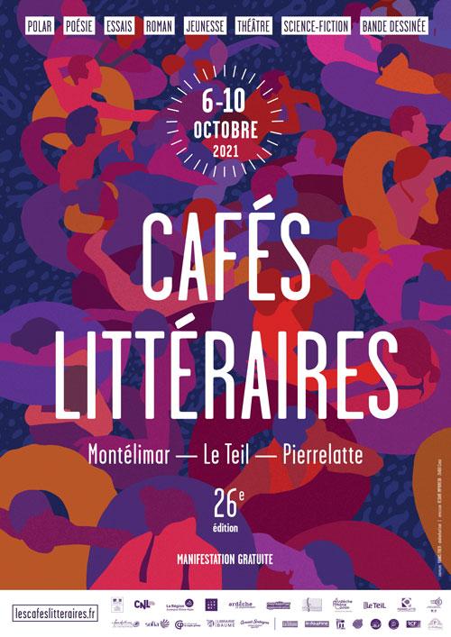 Affiche des Cafés Littéraires 2021